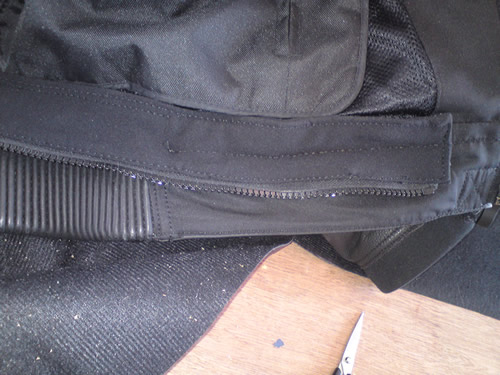 RST jacket waist zip extended after